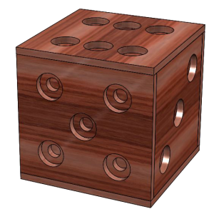The dice box blank background