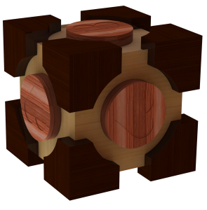 The Companion cube puzzel box render by Benno Baatsen png