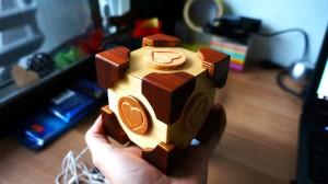 The Companion cube puzzle box by Benno Baatsen